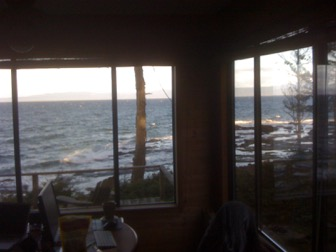 View of ocean from house